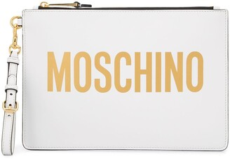 Moschino Logo-Print Clutch Bag