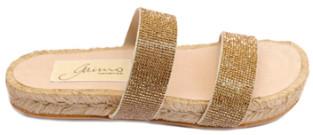 Gaimo Autentic Gold Ban Sandals - 36 - Gold