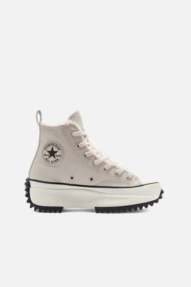 Converse Run Star Hike Fur Lined Leather Hi Sneakers