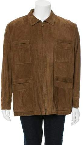 Loro Piana Cashmere-Lined Suede Jacket