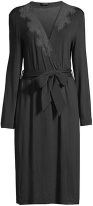 La Perla Lace-Trim Short Robe