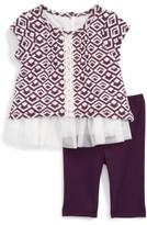Infant Girl's Pippa & Julie Print Dress & Leggings Set