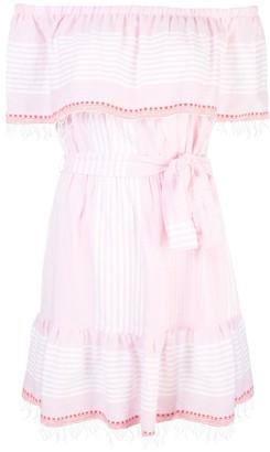 Lemlem Rekik Off Shoulder Dress in Misty Rose - medium