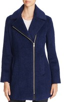 Andrew Marc Slim Alpaca Wool Blend Coat