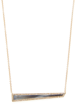 Maiyet 18K Yellow Gold, Diamond & Horn Inlay Geometric Pendant Necklace