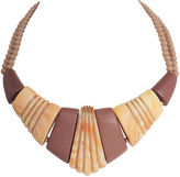 One Kings Lane Vintage Napier Brown & Tan Lucite Necklace, 1985