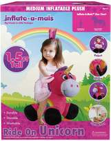 Inflate A Mals Ride On Unicorn Plush Toy