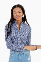 The Shirt by Rochelle Behrens The Exclusive Navy Check Essential Icon Shirt