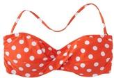 Mossimo Women's Mix and Match Dot Bandeau Swim Top -Mandarin