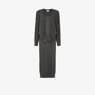 Lemaire Cardigan Knit Midi Dress