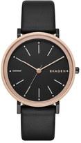Skagen 'Hald' Leather Strap Watch, 34mm