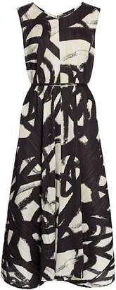 Pleats Please Issey Miyake Spin Sleeveless Midi Dress