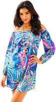 Lilly Pulitzer Adira Stretch Silk Off The Shoulder Dress