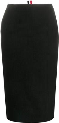 Thom Browne High-Waisted Pencil Skirt