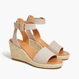 J.Crew Canvas wedges