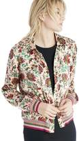 Sole Society Silk Button Up Jacket