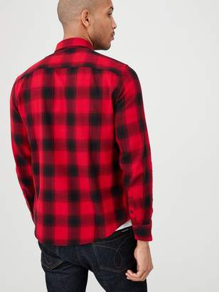 Very Long Sleeved Check Shirt - Red/Black
