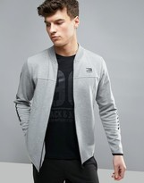 Jack and Jones Tech Longline Bomber Jacket In Jersey