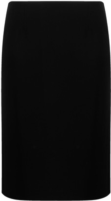 Aspesi Pleat-Back Pencil Skirt