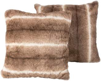 Luxe Faux Fur Belton Faux Fur 2-Piece Decorative Pillow Set