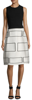 Narciso Rodriguez Wool Geometric Jacquard A-Line Dress