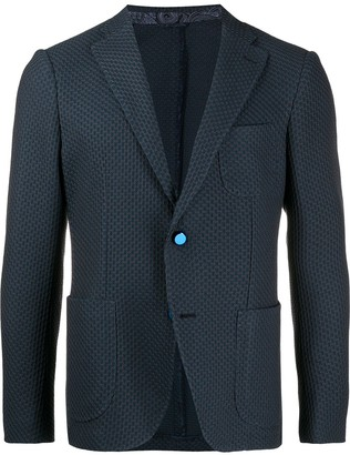 Etro Single-Breasted Woven Blazer