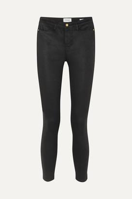 Frame Le High Coated Skinny Jeans - Black