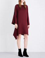 Osman Ladder-sleeve loose-fit seersucker dress
