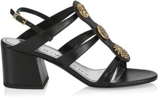 Givenchy Embellished Leather Slingback Sandals