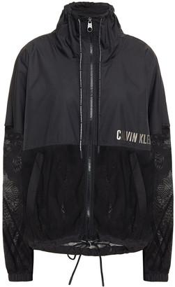 Calvin Klein Mesh-paneled Printed Shell Track Jacket