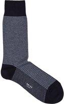 Reiss Reiss Brenta - Houndstooth Socks In Blue