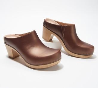 Dansko Leather Heeled Mules - Abbie