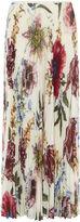 Karen Millen Pleated Floral Maxi Skirt