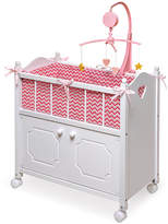 Badger Basket Pink Chevron Crib Set for 18'' Doll