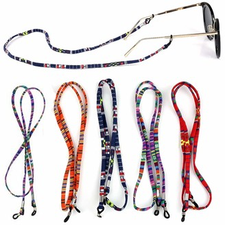 Henan 6 Pieces Glasses Holder Strap Spectacles Chain Lanyard Cord for Sunglasses Glasses Safety Glasses Etc can be used for Outdoor Sports Dance Nights or on the go