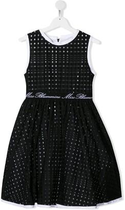 Miss Blumarine TEEN perforated logo dress