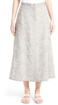 Lafayette 148 New York Women's Carissa Linen Midi Skirt