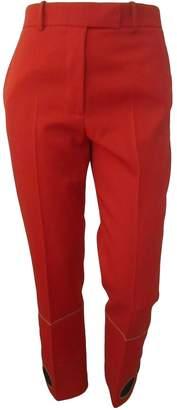 Calvin Klein Orange Wool Trousers for Women