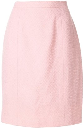 Chanel Pre-Owned textured straight skirt
