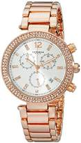 Akribos XXIV Women's AK529RG Rose Gold-Tone Crystal-Accented Watch
