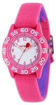 Disney Girls' Red Balloon Pink Plastic Time Teacher Watch - Pink