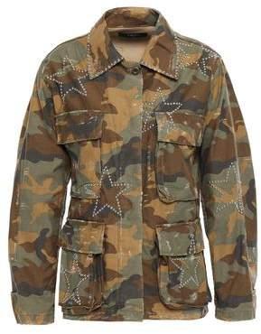 Amiri Studded Distressed Printed Cotton Jacket
