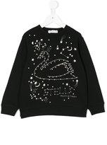 Stella McCartney swan sweatshirt - kids - Cotton - 2 yrs