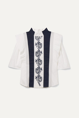 Chloé Kids Kids - Ages 6 - 12 Embroidered Cotton Blouse