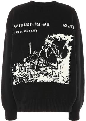 Off-White Off White Oversized wool sweater