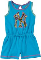 Majestic Toddler Tank Coverall W/ Hd Black Glitter - NY Yankees - 3T