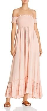 PQ Swim PilyQ Mishell Smocked Dress Swim Cover-Up