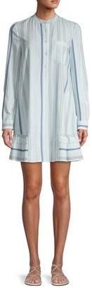 BCBGMAXAZRIA Striped Mockneck Mini Dress