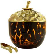 Oscar de la Renta Acorn Brass & Tortoise Ice Bucket