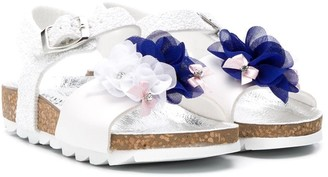 MonnaLisa Floral Applique Sandals